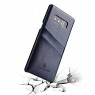 Недорогие Чехлы и кейсы для Galaxy Note-Fierre Shann Кейс для Назначение SSamsung Galaxy Note 8 Бумажник для карт Кейс на заднюю панель Однотонный Твердый Настоящая кожа для Note 8