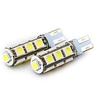 abordables Luces Traseras de Coche-SENCART 4pcs T10 / BA9S Motocicleta / Coche Bombillas 2.5 W SMD 5050 160 lm 13 LED Luz de Intermitente / Luz de la cola / Luces interiores Para