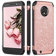 お買い得  携帯電話ケース-BENTOBEN ケース 用途 Motorola MOTO G6 耐衝撃 / メッキ仕上げ / キラキラ仕上げ バックカバー キラキラ仕上げ ハード TPU / PC のために MOTO G6