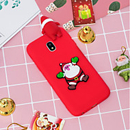 cheap Galaxy J Series Cases / Covers-Case For Samsung Galaxy J5 (2017) / J4 Pattern Back Cover Christmas Soft TPU for J7 (2017) / J7 (2016) / J5 (2017)
