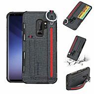 Недорогие Чехлы и кейсы для Galaxy S9 Plus-Кейс для Назначение SSamsung Galaxy S9 Plus / S9 Кошелек / Бумажник для карт / Защита от удара Кейс на заднюю панель Однотонный Твердый Кожа PU для S9 / S9 Plus / S8 Plus
