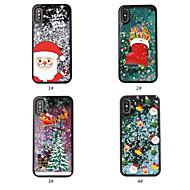 Недорогие Кейсы для iPhone 8 Plus-Кейс для Назначение Apple iPhone X / iPhone XS Движущаяся жидкость / Прозрачный / С узором Кейс на заднюю панель Рождество Мягкий ТПУ для iPhone XS / iPhone X / iPhone 8 Pluss