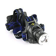 お買い得  フラッシュライト/ランタン/ライト-LS059 ヘッドランプ 自転車用ヘッドライト LED LED 1200 lm 3 照明モード バッテリー&チャージャー付き ズーム可能, 防水, 焦点調整可 キャンプ / ハイキング / ケイビング, 日常使用, ダイビング / ボーティング