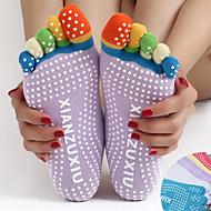 cheap Sportswear-Women's Grip Yoga Socks / Five Toe Socks Anti-skidding / Non-Skid / Antiskid, Sweat-wicking, Non Slip For Pilates / Bikram / Barre Spring / Fall / Winter