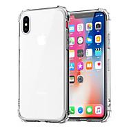 Недорогие Кейсы для iPhone 8-Кейс для Назначение Apple iPhone XR / iPhone XS Max Защита от удара / Прозрачный Кейс на заднюю панель Однотонный Мягкий ТПУ для iPhone XS / iPhone XR / iPhone XS Max