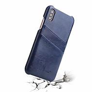 お買い得  -ケース 用途 Apple iPhone X カードホルダー バックカバー ソリッド ハード 本革 のために iPhone X