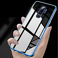 Недорогие Чехлы и кейсы для Galaxy S9-Кейс для Назначение SSamsung Galaxy S9 Plus / S9 Покрытие / Ультратонкий / Прозрачный Кейс на заднюю панель Однотонный Мягкий ТПУ для S9 / S9 Plus / S8 Plus