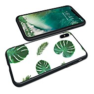 Недорогие Кейсы для iPhone 8-Кейс для Назначение Apple iPhone X / iPhone 8 Plus Прозрачный Кейс на заднюю панель Растения Мягкий ТПУ для iPhone X / iPhone 8 Pluss / iPhone 8
