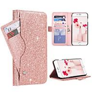 Недорогие Кейсы для iPhone 8 Plus-BENTOBEN Кейс для Назначение Apple iPhone 8 Plus / iPhone 7 Plus Бумажник для карт / Защита от удара / Флип Чехол Сияние и блеск Твердый Кожа PU / ПК для iPhone 8 Pluss / iPhone 7 Plus