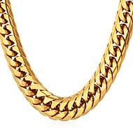ieftine -Bărbați Lănțișoare Chainul gros Box lanț lanțul franco Modă Hip Hop Teak Auriu Negru Argintiu 55 cm Coliere Bijuterii 1 buc Pentru Cadou Zilnic