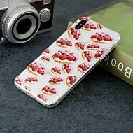 Недорогие Кейсы для iPhone 8 Plus-Кейс для Назначение Apple iPhone XR / iPhone XS Max Прозрачный / С узором Кейс на заднюю панель Продукты питания Мягкий ТПУ для iPhone XS / iPhone XR / iPhone XS Max