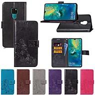 preiswerte Handyhüllen-Hülle Für Huawei Huawei Mate 20 Lite / Huawei Mate 20 Pro Kreditkartenfächer / mit Halterung / Flipbare Hülle Ganzkörper-Gehäuse Solide / Schmetterling Hart Textil für Mate 10 / Mate 10 pro / Mate 10