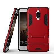 お買い得  携帯電話ケース-ケース 用途 Huawei Mate 9 Pro 耐衝撃 / スタンド付き バックカバー ソリッド / 鎧 ハード PC のために Mate 9 Pro