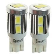 billiga -SENCART 2pcs T10 / BA9S Bilar Glödlampor 3 W SMD 5730 500 lm 10 LED innerbelysningen Till Universell Alla år