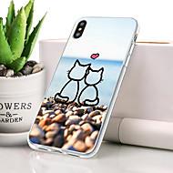 billige -Etui Til Apple iPhone XR Støvsikker / Ultratyndt / Mønster Bagcover Kat / Tegneserie Blødt TPU for iPhone XR