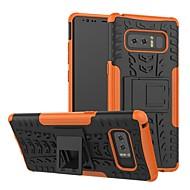 Недорогие Чехлы и кейсы для Galaxy S9-Кейс для Назначение SSamsung Galaxy S9 Plus / S8 Plus Защита от удара / со стендом Кейс на заднюю панель Геометрический рисунок Твердый Силикон / ПК для S9 / S9 Plus / S8 Plus