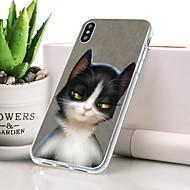 billige -Etui Til Apple iPhone XR Støvsikker / Ultratyndt / Mønster Bagcover Kat / Dyr Blødt TPU for iPhone XR