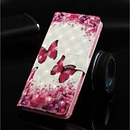 preiswerte Handyhüllen-Hülle Für Huawei Huawei Honor 8X / Huawei Honor 8X Max Geldbeutel / Kreditkartenfächer / mit Halterung Ganzkörper-Gehäuse Schmetterling Hart PU-Leder für Huawei Note 10 / Huawei Honor 10 / Huawei
