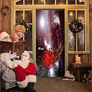 abordables Artículos para el Hogar-Pegatinas de puerta - Calcomanías 3D para Pared Navidad / Día Festivo Interior / Al Aire Libre