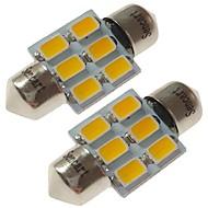 abordables Luces de Exterior para Coche-SENCART 2pcs 31mm Coche Bombillas 3 W SMD 5730 180 lm 6 LED Luces interiores / las luces exteriores Para