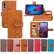 preiswerte Handyhüllen-Hülle Für Huawei P20 Pro / P20 lite Geldbeutel / Kreditkartenfächer / mit Halterung Ganzkörper-Gehäuse Anwendung Hart PU-Leder für Huawei P20 / Huawei P20 Pro / Huawei P20 lite