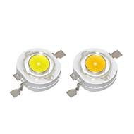 halpa -SENCART 10pcs Tehokas LED DIY / Lampun lisävaruste Alumiini LED-siru Clear DIY LED Flood Light Spotlight -valaisimelle 1 W