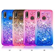お買い得  携帯電話ケース-ケース 用途 Huawei P20 lite / P smart ラインストーン / リキッド バックカバー カラーグラデーション ソフト TPU のために Huawei P20 lite / P smart