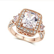 cheap Jewelry & Watches-Women's Clear AAA Cubic Zirconia Stack Ring Promise Ring - Copper Romantic 6 / 7 / 8 / 9 Silver / Rose Gold For Engagement Gift