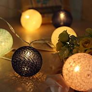 cheap -3m String Lights 20 LEDs Warm White Decorative AA Batteries Powered 1 set