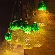 cheap -2.5m String Lights 10 LEDs Warm White Decorative AA Batteries Powered 1 set