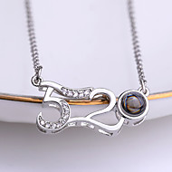 cheap -Women's Classic Charm Necklace Rhinestone Number Ladies Unique Design Korean Fashion Cute Cool Gold Silver 42+5 cm Necklace Jewelry 1pc For School Going out
