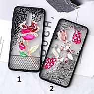 preiswerte Handyhüllen-Hülle Für Xiaomi Xiaomi Pocophone F1 / Xiaomi Redmi 6 Pro Durchscheinend / Muster Rückseite Lace Printing / Blume Hart PC für Xiaomi Redmi Note 5 Pro / Xiaomi Redmi Note 6 / Xiaomi Pocophone F1