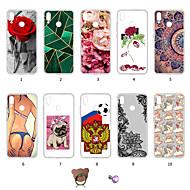 preiswerte Handyhüllen-Hülle Für Huawei P20 lite Staubdicht / Ultra dünn / Muster Rückseite Sexy Lady / Lace Printing / Blume Weich TPU für Huawei P20 lite