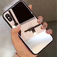Недорогие Кейсы для iPhone 8-Кейс для Назначение Apple iPhone XR / iPhone XS Max Зеркальная поверхность Кейс на заднюю панель Однотонный Твердый Закаленное стекло для iPhone XS / iPhone XR / iPhone XS Max