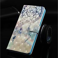 Недорогие Чехлы и кейсы для Galaxy J-Кейс для Назначение SSamsung Galaxy J6 Кошелек / Бумажник для карт / со стендом Чехол Ловец снов Твердый Кожа PU для J8 (2018) / J7 (2018) / J6 Plus
