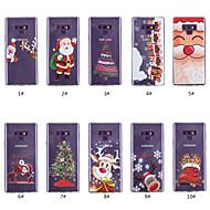 Недорогие Чехлы и кейсы для Galaxy Note-Кейс для Назначение SSamsung Galaxy Note 9 / Note 8 Прозрачный / С узором Кейс на заднюю панель Рождество Мягкий ТПУ для Note 9 / Note 8