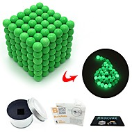 cheap Toy & Game-216 pcs 3mm Magnet Toy Magnetic Balls Magnet Toy Super Strong Rare-Earth Magnets Magnetic Glow-in-the-dark Stress and Anxiety Relief Office Desk Toys Relieves ADD, ADHD, Anxiety, Autism Novelty