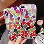 Недорогие Кейсы для iPhone 8 Plus-Кейс для Назначение Apple iPhone XR / iPhone XS Max Защита от удара / Движущаяся жидкость / Прозрачный Кейс на заднюю панель Геометрический рисунок / Сияние и блеск Твердый ПК для iPhone XS / iPhone