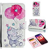 お買い得  携帯電話ケース-ケース 用途 Xiaomi Redmi 6 / Xiaomi Mi Max 3 ウォレット / カードホルダー / スタンド付き フルボディーケース 風船 / 象 ハード PUレザー のために Xiaomi Redmi Note 6 / Xiaomi Pocophone F1 / Redmi 6A