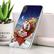abordables Moda en Tendencia-Funda Para Apple iPhone XR Antipolvo / Ultrafina / Diseños Funda Trasera Navidad Suave TPU para iPhone XR