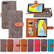Недорогие Чехлы и кейсы для Huawei Honor-Кейс для Назначение Huawei Honor 7A / Honor 7C(Enjoy 8) Кошелек / Бумажник для карт / со стендом Чехол Плитка Твердый Кожа PU для Honor 7A / Honor 7C(Enjoy 8) / Honor 5A