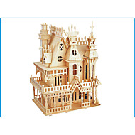 preiswerte Spielzeuge & Spiele-3D - Puzzle Holzpuzzle Holzmodelle Modellbausätze Burg Berühmte Gebäude Holz Naturholz Erwachsene Unisex Geschenk