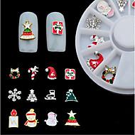 abordables -12 pcs Bijoux pour ongles Multi Fonction / Meilleure qualité Costumes de père noël Créatif Manucure Manucure pédicure Noël / Festival Mode