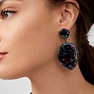 abordables -Femme Zircon Classique Boucles d'oreille goutte - Poire Classique, Mode Bleu marine / Bleu clair / Beige / Blanc Pour Fête / Soirée Cérémonie