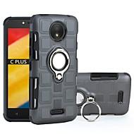 お買い得  携帯電話ケース-ケース 用途 Motorola C plus / C 耐衝撃 / バンカーリング バックカバー 鎧 ハード PC のために Moto C plus / モトC