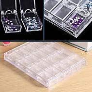 ราคาถูก -1pc กล่องเก็บของเล็บ มัลติฟังก์ชั่ เล็บ ทำเล็บมือเล็บเท้า Plastics / วัสดุที่เป็นมิตรกับสิ่งแวดล้อม แฟชั่น ทุกวัน