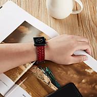 billige -Urrem for Apple Watch Series 4 / Apple Watch Series 4/3/2/1 Apple Klassisk spænde Ægte læder Håndledsrem
