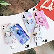 Недорогие Кейсы для iPhone 8 Plus-Кейс для Назначение Apple iPhone XR / iPhone XS Max со стендом / IMD Кейс на заднюю панель Мрамор Мягкий ТПУ для iPhone XS / iPhone XR / iPhone XS Max