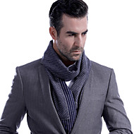cheap -Men's Work / Basic Rectangle Scarf - Striped Pleated / Fall / Winter