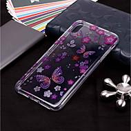 Недорогие Кейсы для iPhone 8 Plus-Кейс для Назначение Apple iPhone XR / iPhone XS Max С узором / Сияние и блеск Кейс на заднюю панель Бабочка Мягкий ТПУ для iPhone XS / iPhone XR / iPhone XS Max